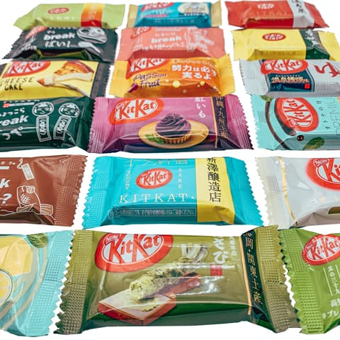 The Tokyo Snack Box special Kit Kat is a mix of the best Japanese KitKat like the matcha one