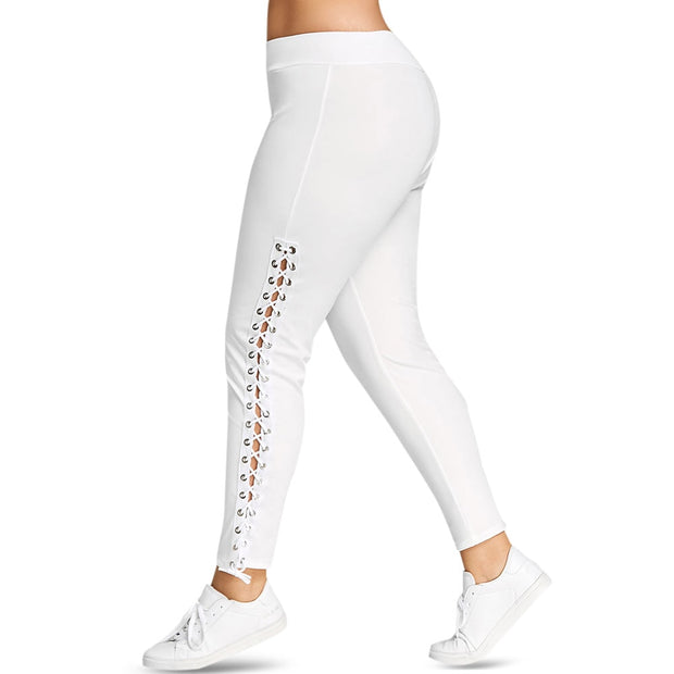 Lace Up Grommet Leggings