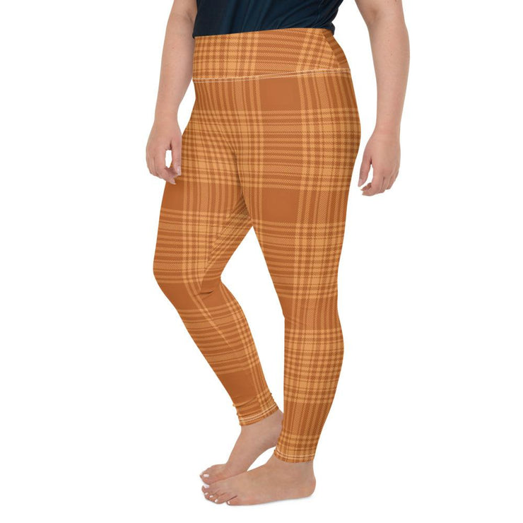 Orange Plaid Leggings