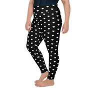 Black Valentine Tiny Hearts Leggings