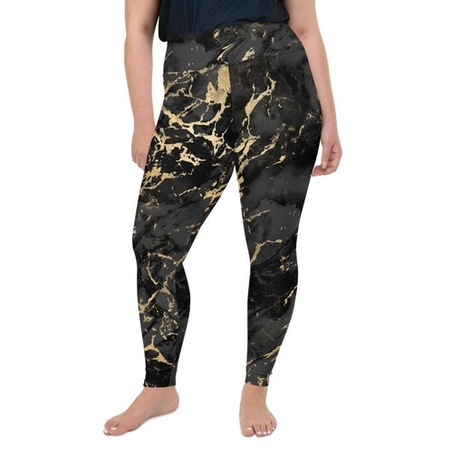 Black Gold Marble Leggings