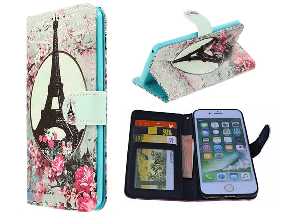 Samsung Galaxy J6 Plus 2018 hoesje Parijs Eiffeltoren - Wallet Case Eiffel tower Paris