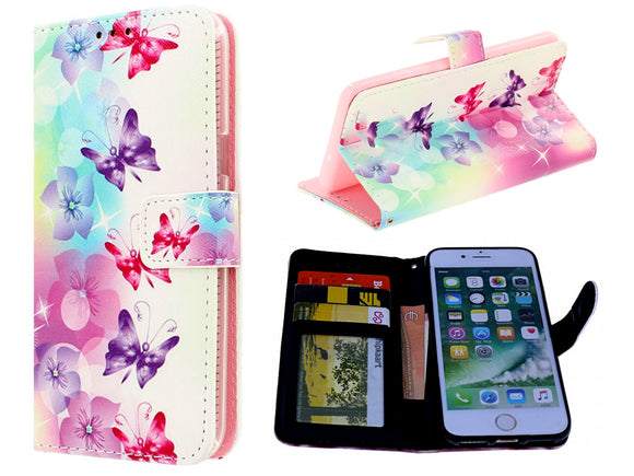 iPhone 11  hoesje - vlinders print mapje- Wallet Case butterflies