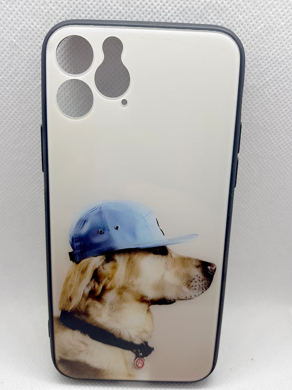 iPhone 11 Pro achterkant hond fashoin hoesje Shockproof Case
