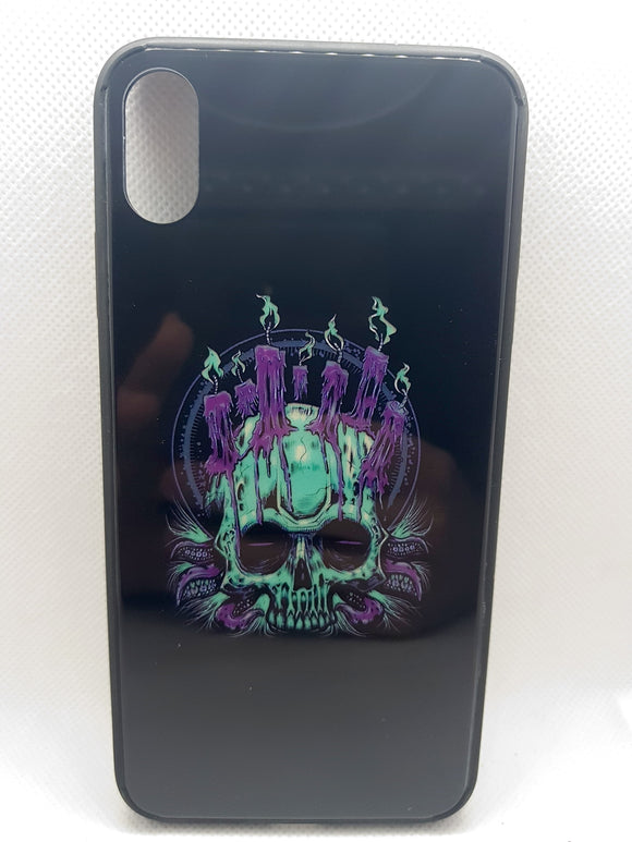 iPhone Xs Max hoesje achterkant human skelet fashion case