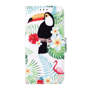 iPhone XR Flamingos print hoesje - Wallet print case boekcase
