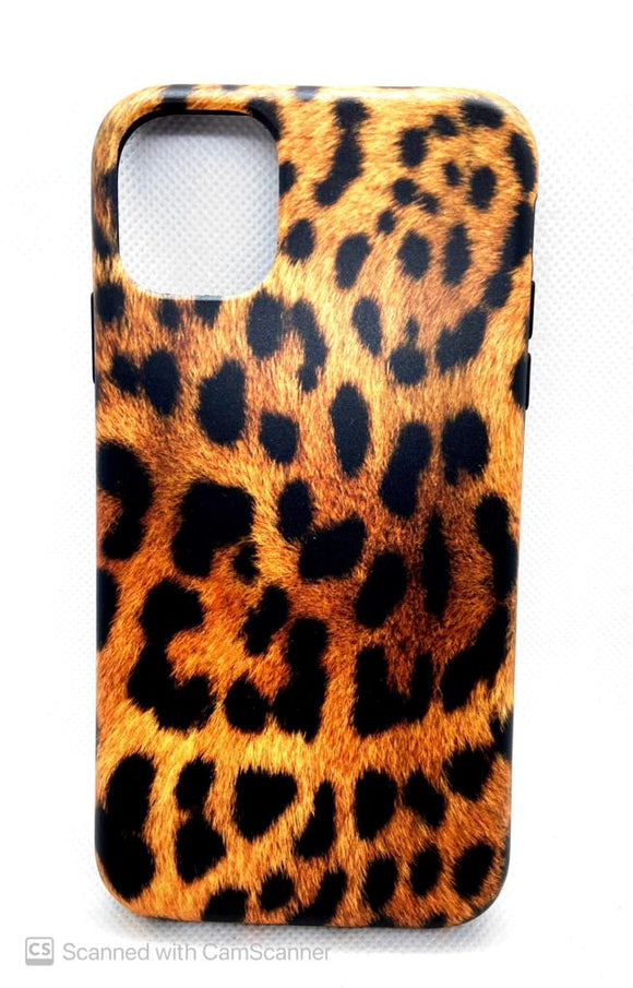 iPhone 11 achterkant hoesje Luipaard Design Backcover case