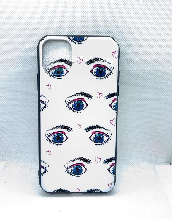 iPhone 11 achterkant fashoin oog eye hoesje Shockproof Case Cover TPU bling bling