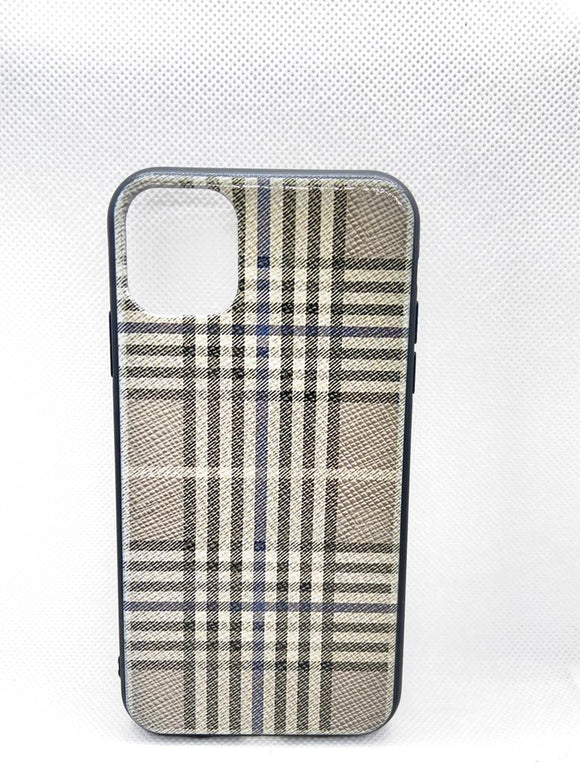 iPhone 11 achterkant Burberry ruitje -geruiten fashoin hoesje Shockproof Case Cover TPU bling bling