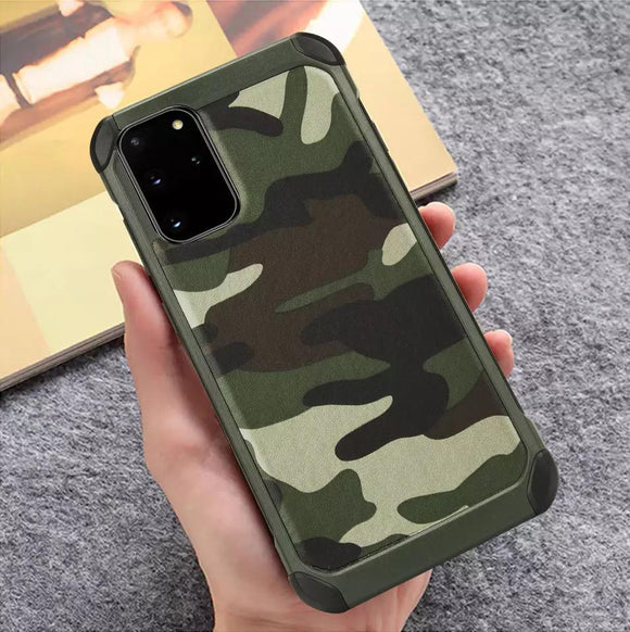 Samsung Galaxy S20 hoesje achterkant army defence hard case milliteir cover