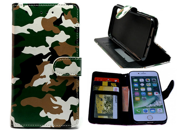 Samsung Galaxy A9 2018 hoesje leger print - army militair - Wallet print case