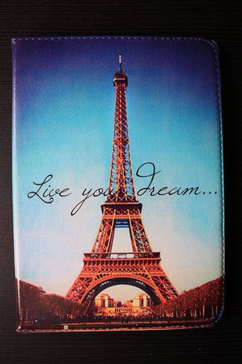 iPad 10.5 Air 2019 /iPad 10.5 Pro Eiffel tower Paris print hoesje  | 360° draaibare Multi-stand - Bookcase cover