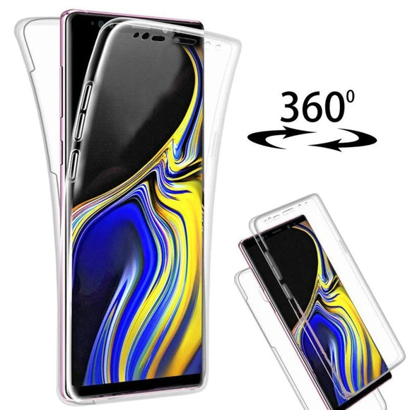 Samsung Galaxy 360 Degree doorzichtig hoesje voor + achterkant hoesje | Case Full Body Protection , Silicone Transparent Clear Cover Bumper Case