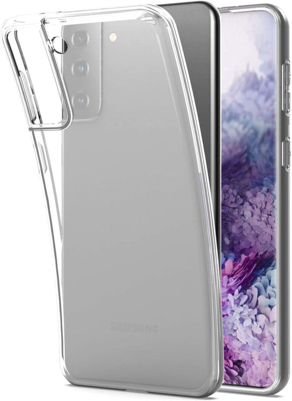 Samsung Galaxy S21 Plus hoesje zacht dun achterkant | Transparant Silicone Transparent Clear Cover Bumper
