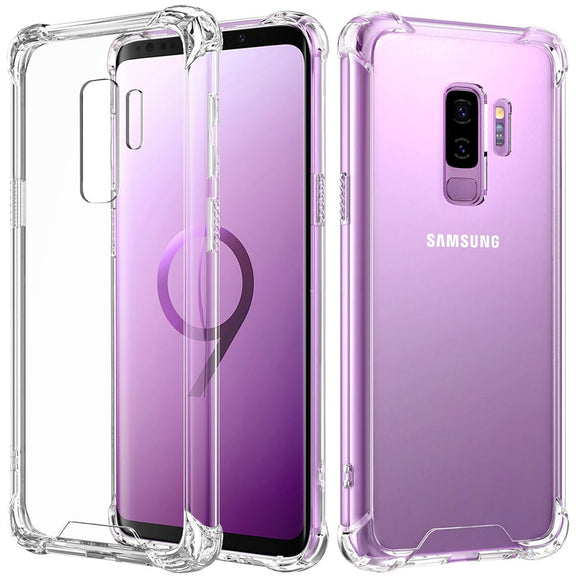 Samsung Galaxy  Antishock doorzichtig hoesje achterkant | Transparant hoesje, Silicone Transparent Clear Cover Bumper