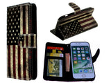 Nokia 7 plus hoesje USA flag print mapje- Wallet case America flag