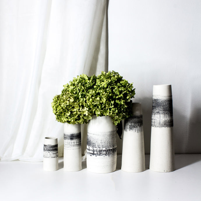 Basalt vases collections. Skinny Long vases, Cylinder Vases, and more