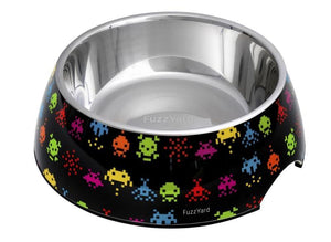FuzzYard Space Raiders Easy Feeder Pet Bowl