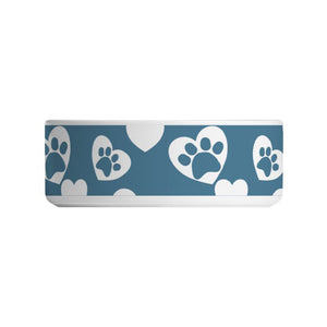 Paw Prints on the Heart Dog Bowl