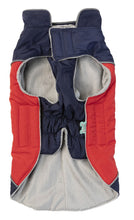 Load image into Gallery viewer, FuzzYard Pac Jacket Navy/Red