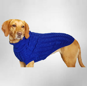 Canine and Co The Rascal Dog Jumper in Blue