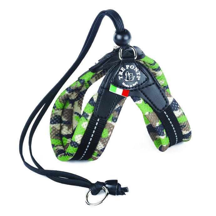 Tre Ponti Easy Fit Green Camo Mesh Harness with Adjustable Strap