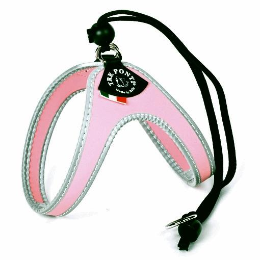 Tre Ponti Easy Fit Classic Pink Harness with Adjustable Strap Closure