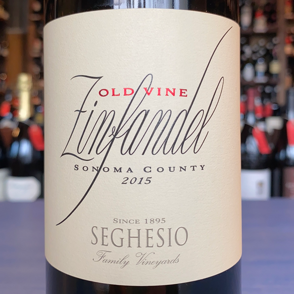 SEGHESIO FAMILY VINEYARDS SONOMA COUNTY OLD VINE ZINFANDEL 2015