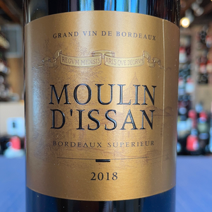 MOULIN D'ISSAN BORDEAUX SUPERIEUR 2018