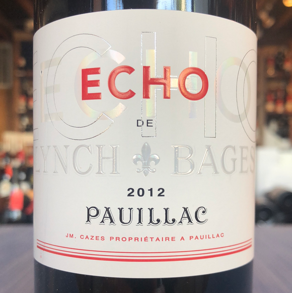 CHATEAU LYNCH BAGES ECHO DE LYNCH PAUILLAC 2012