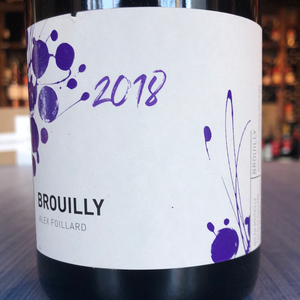 ALEX FOILLARD BROUILLY 2018