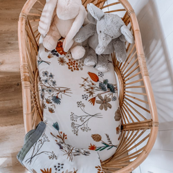 A Little Posy Muslin Bassinet Sheet
