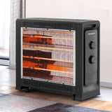 Devanti 2200W Electric Infrared Radiant Convection Panel Heater Portable