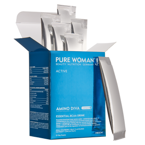 HECH PureWoman Amino Diva Essential BCAA Drink, Packung mit 21 sachets