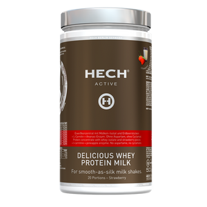 HECH Active Delicious Whey Milk Protein Drink Erdbeere, 500g Dose