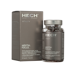 HECH Vitality Mental Focus Dose mit 60 Kapseln