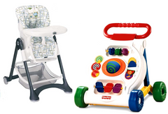 Fisher Price High Chair and Fisher Price Walker-TheGbabe Rentals