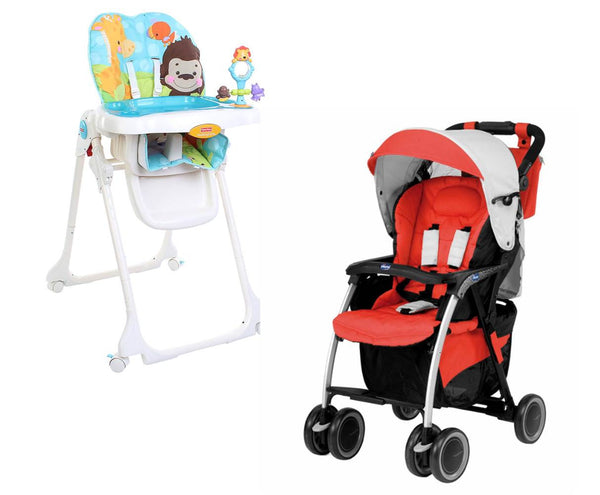 Chicco Simplicity Stroller and Fisher Price High Chair-Thegbabe Rental