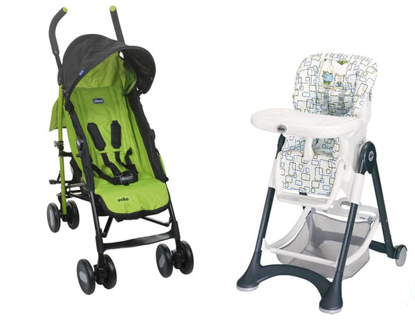 Chicco Stroller and High Chair -Thegbabe Rentals Pune