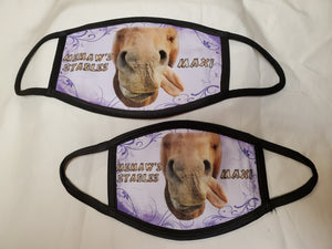 Equine Stylized Face Cover - Maxi Lilac