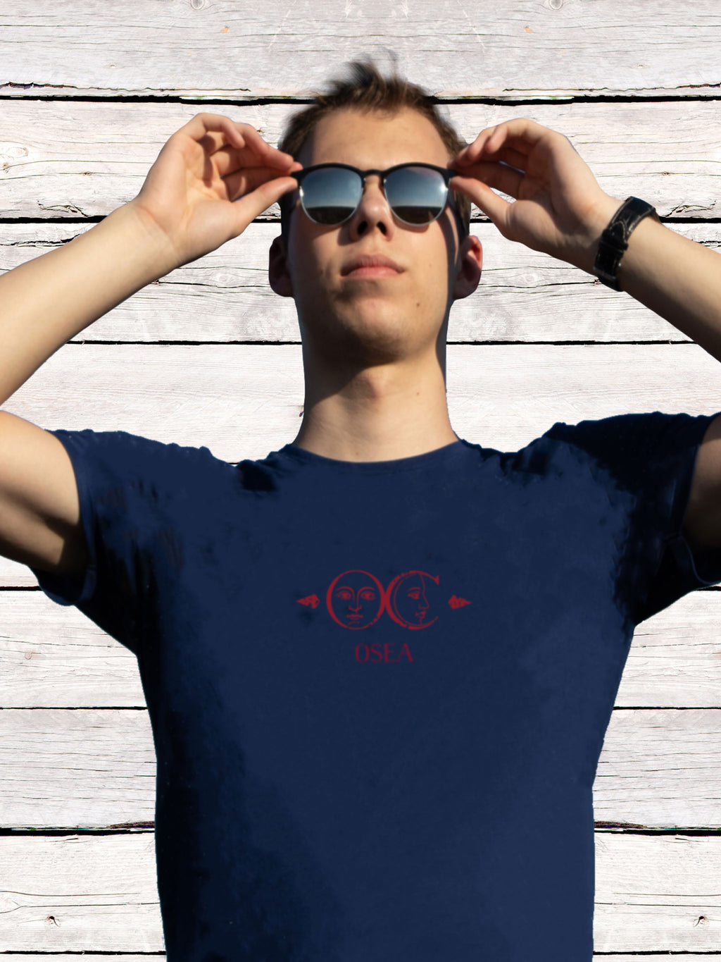 Osea T-shirt - Sun 'n Moon - Blue - Men's