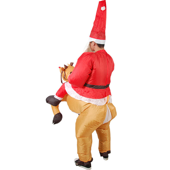 Inflatable Reindeer-Rider Suit For Adult