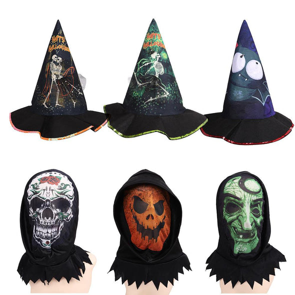 Halloween Headdress Elf Witch Magician Pointed Hat