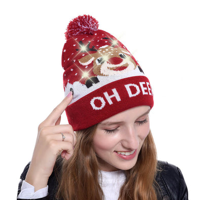 Christmas LED Light-up Knitted Hat
