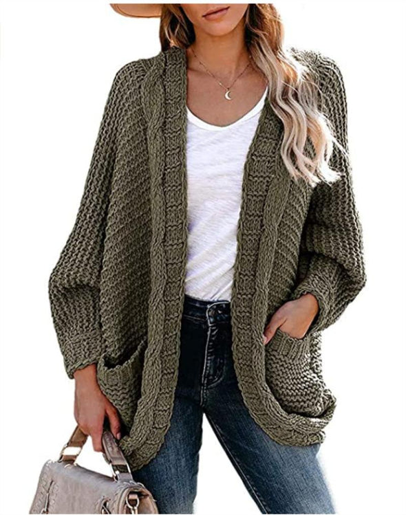 Front Loose Knitted Comfy Sweater Cardigan
