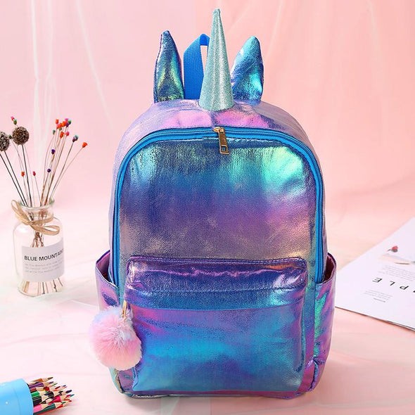 Unicorn Girl Cartoon Backpack