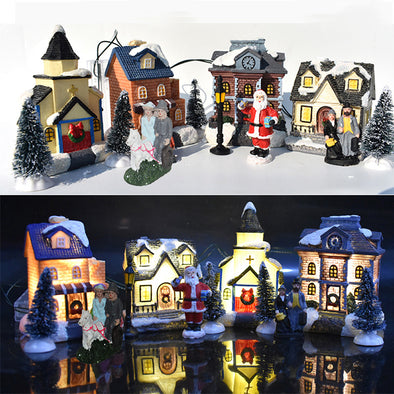 Christmas Glowing Little House (10PCs)