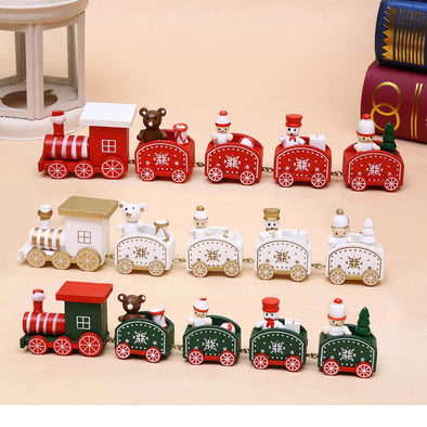 Christmas Ornament, Wooden Train