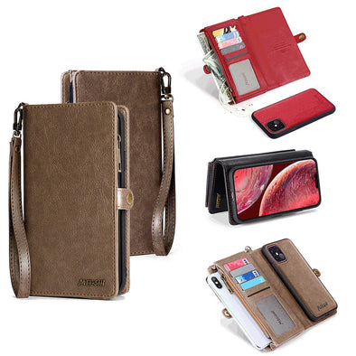 Leather Magnetic Wallet Case