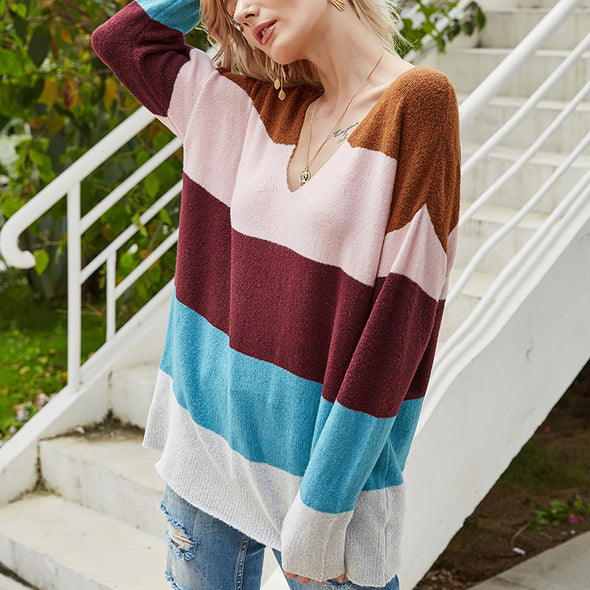 Backless Loose Knitted Sweater